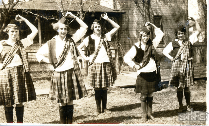 [Five Scottish dancers, Arcola]