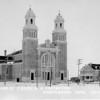 Catholic Church & Presbyterian Gravelbourg Sask, 1910s