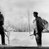 [Two Boys Hunting in the Winter, 1915]