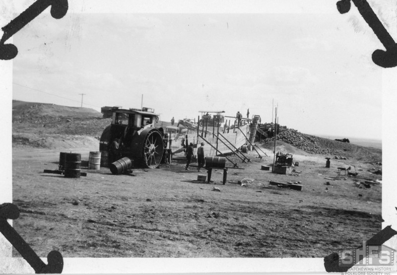 [Moose Mountain Bridge construction site, c. 1930]