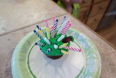 Birthday cupcake for Mark Jr.