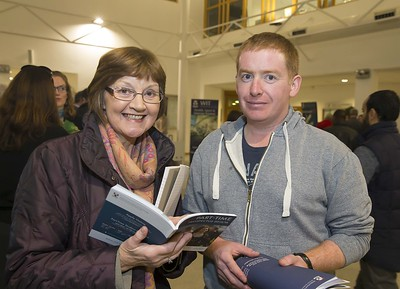 23/02/2016. Free To Use Image. Pictured at WIT (Waterford Institute Of Technology) Adult Learner Information Evening are Mabel McManus WIT and Paul Eustace Kilkenny. Picture: Patrick Browne