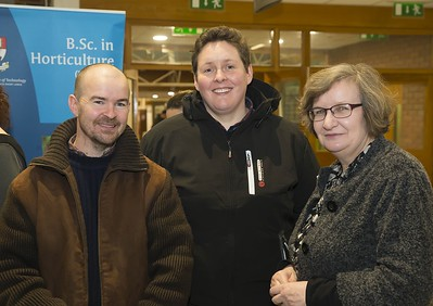 23/02/2016. Free To Use Image. Pictured at WIT (Waterford Institute Of Technology) Adult Learner Information Evening are Kieth Hopkins, Wexford, Cara Daly and Una McDermott WIT. Picture: Patrick Browne