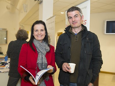 23/02/2016. Free To Use Image. Pictured at WIT (Waterford Institute Of Technology) Adult Learner Information Evening are Lorraine Flood WIT and William Roche Kilkenny. Picture: Patrick Browne