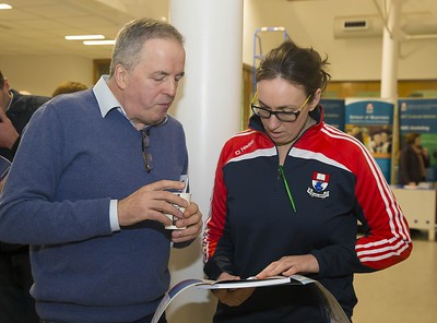 23/02/2016. Free To Use Image. Pictured at WIT (Waterford Institute Of Technology) Adult Learner Information Evening are Jim Kennington, Piltown Co. Kilkenny and Michelle Walsh WIT Student Ambassador. Picture: Patrick Browne