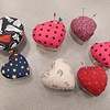 2014 February Glue Gun Gang: Cookie Cutter Heart Pincushions