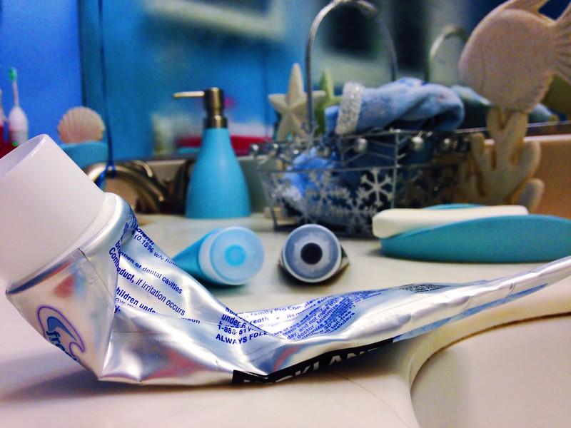 Toothpaste smiles