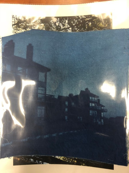 Cyanotype with the cloth