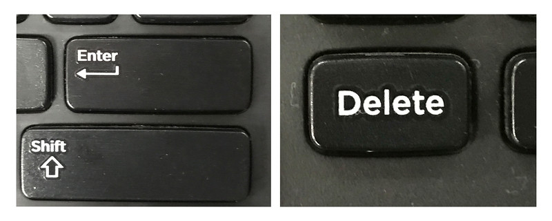 Delete and Enter