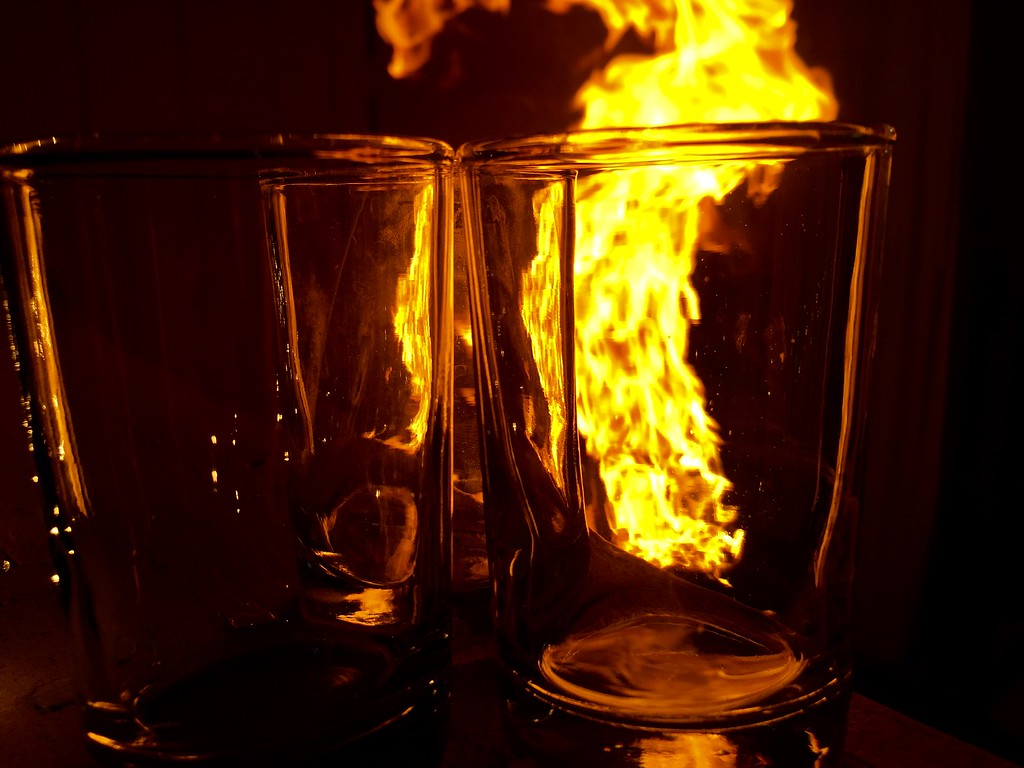 Fire and Glasses