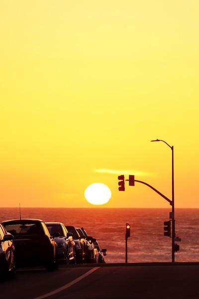 Summer Sunset on a Quiet Street