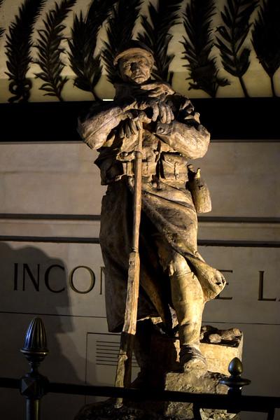 Great War Statue in Arc de Triomphe