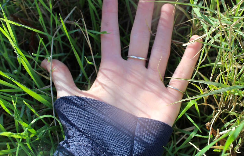 a closeup hand