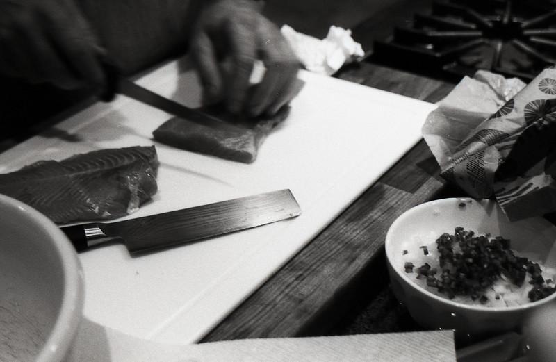 Making Ceviche