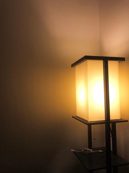 Fire in lamp
