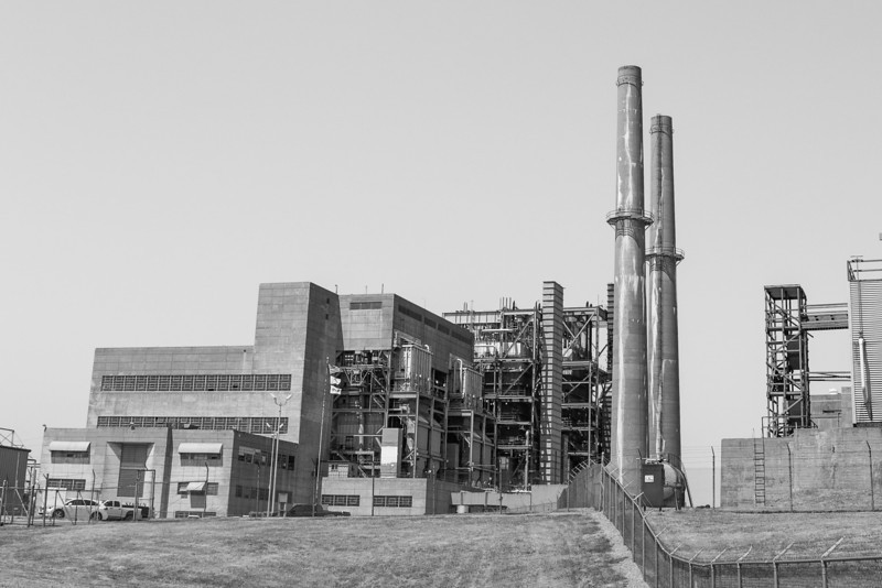 Mustang power plant owned by OG&E. The plant used to use coal to generate power but has been converted to run off natrual gas. It is located on the west side of Oklahoma City just south of Lake Overholster.
