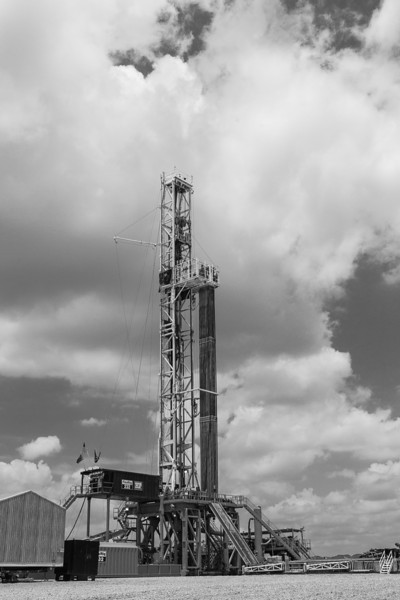Oil and gas rigs.