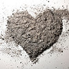 35809354 - grey love heart made of ash