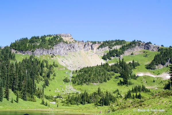Mt. Rainier NP - Naches Peak - See the top?  That's where we were headed....