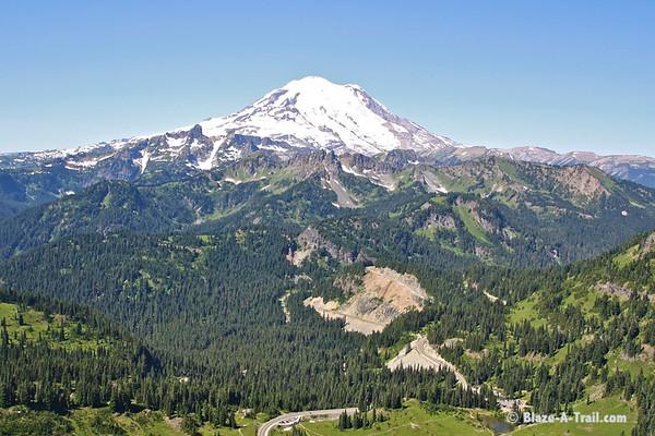Mt. Rainier wilderness view from Naches peak.