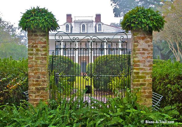 Original garden entrance to Oak Alley Plantation<br /> Oak Alley Plantation, Louisiana (November 2009)