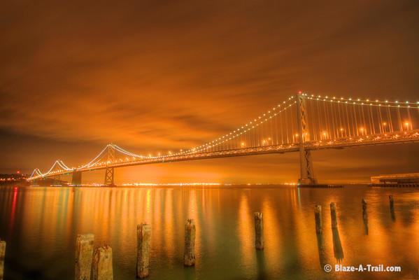 Bay Bridge at Dusk -<br /> San Francisco (December 2010)