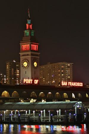 Port of San Francisco (Ferry Building) -<br /> San Francisco at Night (December 2010)