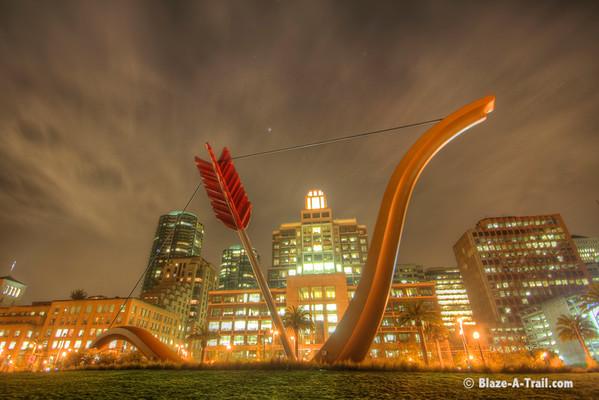 Cupid's Arrow - San Francisco at Night (December 2010)