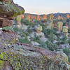 The Hoodoos of Chiricahua National Monument at Sunset