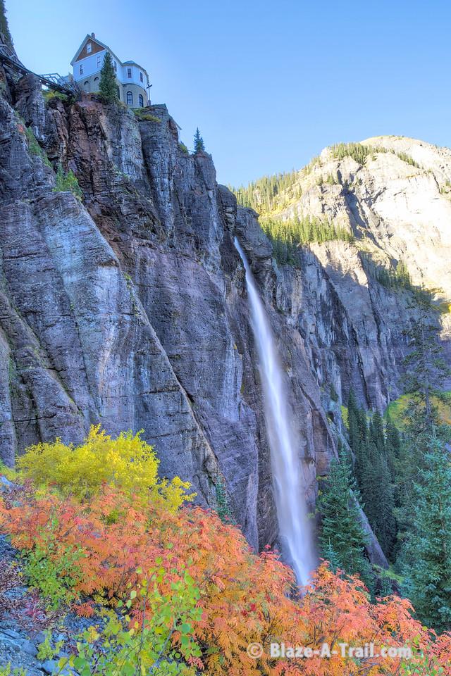 Autumn colors around Bridal Veil Falls (Telluride, Colorado) September 2011