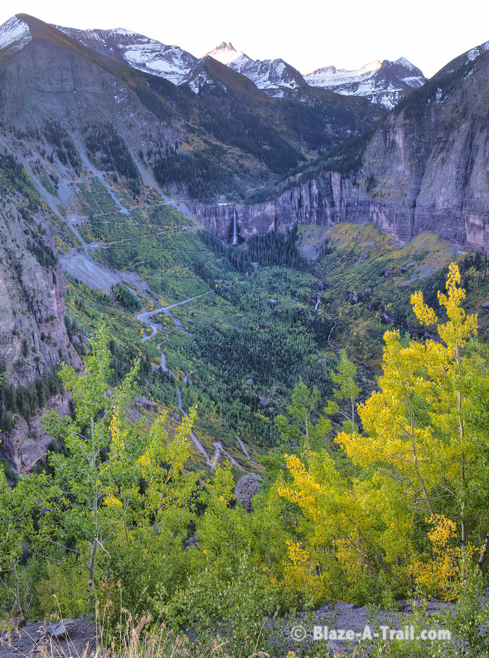 Bridal Veil Falls view from Road to Tomboy (Telluride, Colorado) September 2011