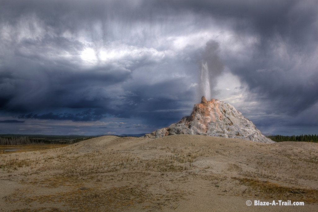 """White Dome Geyser - Firehole Lake Drive, Yellowstone National Park (August 2011) See Blog:  <a href=""""http://Blaze-A-Trail.blogspot.com/2011/12/yellowstone-geysers.html"""">http://Blaze-A-Trail.blogspot.com/2011/12/yellowstone-geysers.html</a>"""