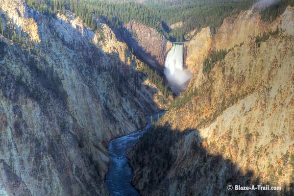 "Yellowstone National Park - Grand Canyon of the Yellowstone - Lower Falls, Yellowstone River (August 2011) See Blog:  <a href=""http://Blaze-A-Trail.blogspot.com/2011/11/yellowstone-national-park-unique-view.html"">http://Blaze-A-Trail.blogspot.com/2011/11/yellowstone-national-park-unique-view.html</a>"