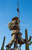 Soldado de Cuera statue, Tucson Presidio, AZ - C3-0149 - 72 ppi