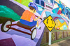 Mural on downtown wall in Conway, Arkansas; High Country Central Loop - _1C30127 - 72 ppi