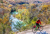 Biker high above Buffalo River north of Jasper-_W7A0054-Edit - C1 - 72 ppi