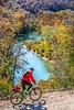 Biker high above Buffalo River north of Jasper_W7A0081-Edit - 72 ppi