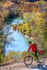 Biker high above Buffalo River north of Jasper-_W7A0065-Edit - C1 - 72 ppi