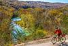 Biker high above Buffalo River north of Jasper_D5A2126-Edit - 72 ppi
