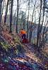 Mountain biker on Womble Trail in Arkansas' Ouachita Mountains - 11 - 72 ppi