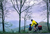Touring cyclist in Great Smoky Mountains National Park, nearing Newfound Gap - 3 - 72 ppi