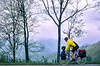 Touring cyclist in Great Smoky Mountains National Park, nearing Newfound Gap - 11 - 72 ppi