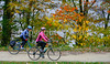 Cyclist(s) on C&O Canal Nat  Historical Park near Harpers Ferry, WV-fall--1702 - 72 ppi