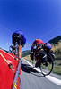 B lc mt 1 - Touring cyclists on Lewis & Clark Trail - return route near Livingston, Montana - 72 dpi
