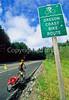 Tourer on Oregon Coast Bike Route on US 101 near Reedsport - 5 - 72 ppi