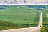 Lewis & Clark - Cyclists on ACA route near New Town, North Dakota - 1 - 72 ppi