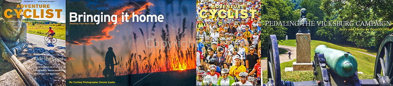 Magazines - Photo Strip fro Adventure Cycling section