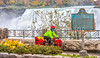 Touring cyclist viewing American side of Niagara Falls, NY-0605 - 72 ppi