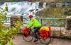 Touring cyclist viewing American side of Niagara Falls, NY-0233 - 72 ppi