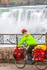 Touring cyclist viewing American side of Niagara Falls, NY-0619 - 72 ppi-2